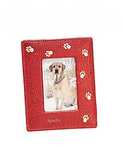 Graphic Image - Personalized Leather Paw-Print Frame