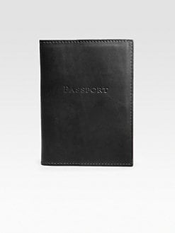 Graphic Image - Leather Passport Cover/Black