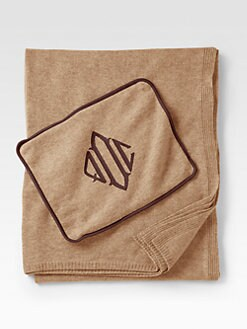 Queen of Cashmere - Personalized Cashmere Travel Throw/Cafe Noir