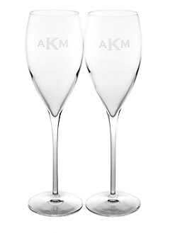 Rolf Glass - Personalized Champagne Flutes, Set of 2
