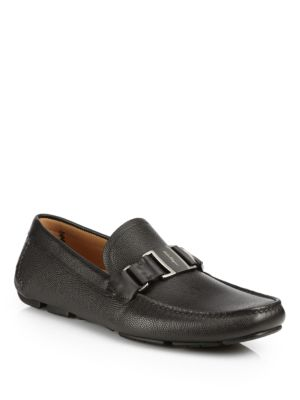 Sardegna Pebbled Leather Loafers