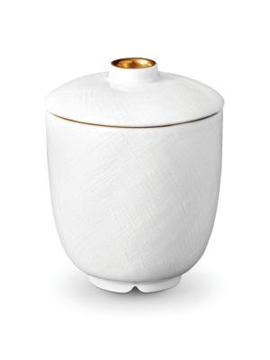 Han 24k Gold-Trimmed Porcelain Sugar Bowl