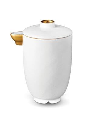 Han 24k Gold-Trimmed Porcelain Soy Sauce Pot