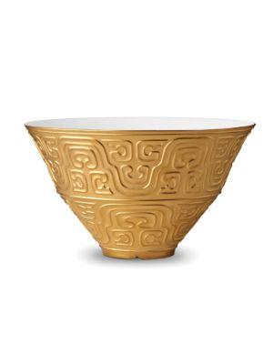 Han 24k Gold and Porcelain Bowl