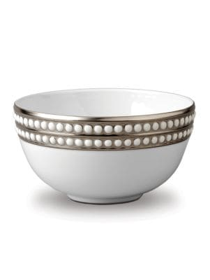 Perlee Platinum and Porcelain Bowl