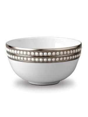 Perlee Platinum and Porcelain Bowl