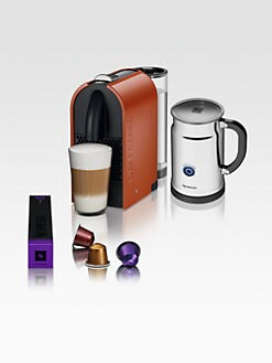 Nespresso - U C50 Espresso Machine with Aeroccino Automatic Milk Frother
