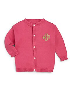 MJK Knits - Infant's, Toddler's &amp; Kid's Personalized Monogram Cotton Cardigan <br>