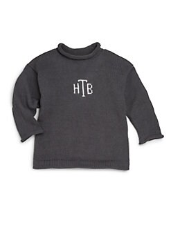 MJK Knits - Infant's, Toddler's & Kid's Monogrammed Cotton Pullover Sweater