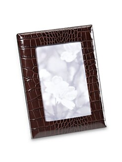 Graphic Image - Embossed Leather-Wrapped Photo Frame
