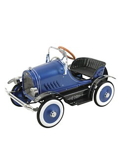 Dexton Kids - Deluxe Roadster Pedal Car/Blue