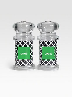 Dabney Lee Stationery - Personalized Salt & Pepper Shakers/Criss Cross