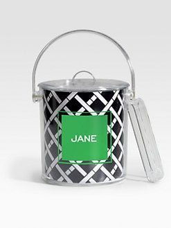 Dabney Lee Stationery - Personalized Ice Bucket/Criss Cross