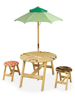 Teamson - Sunny Safari Outdoor Table and Stool Set