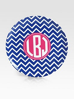 Preppy Plates - Personalized Striped Plates, Set of 4/Newport