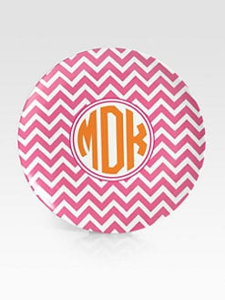 Preppy Plates - Personalized Striped Plates, Set of 4/Kiwah