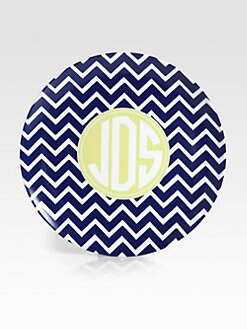 Preppy Plates - Personalized Striped Plates, Set of 4/Annapolis