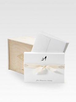 Charles Fradin Home - Personalized Letterpress Card Set/Shoe