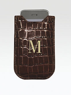 Graphic Image - Personalized Croco Leather Case for iPhone