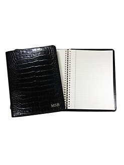 Graphic Image - Personalized Croco Leather Notebook/Large