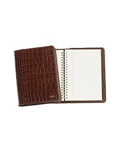 Graphic Image - Personalized Croco Leather Notebook/Medium