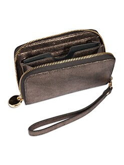 GiGi New York - Metallic Leather Cellphone Wallet