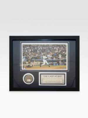Derek Jeter Last At-Bat At Yankee Stadium Dirt Collage