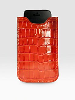 Graphic Image - Embossed Leather iPhone 5 Case