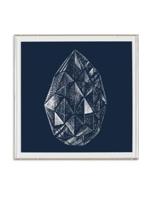Framed Marquise-Shaped Diamond Print