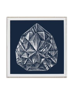 Framed Pear-Shaped Diamond Print