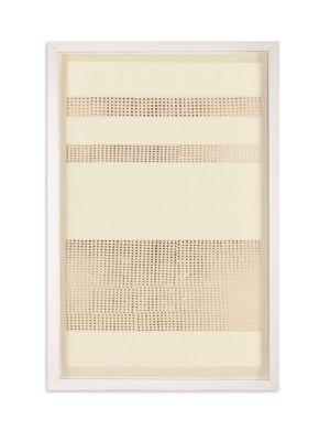 Framed Gold Leaf Dotted Stripes Print