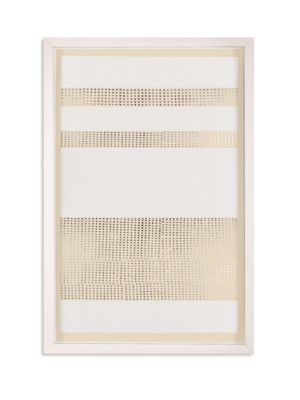 Framed Silver Leaf Dotted Stripes Print