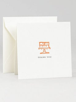 Charles Fradin Home - Letterpress Thank You Notes/Cake