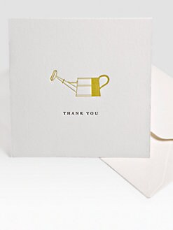 Charles Fradin Home - Letterpress Thank You Notes/Watering Can