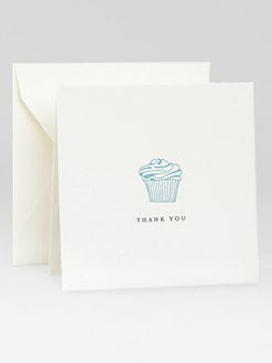 Charles Fradin Home - Letterpress Thank You Notes/Cupcake