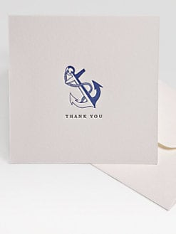 Charles Fradin Home - Letterpress Thank You Notes/Anchor