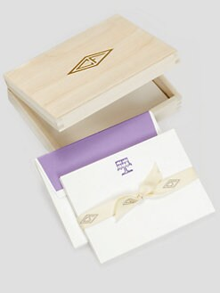 Charles Fradin Home - Letterpress Note Cards in a Wood Box/Cake