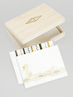 Charles Fradin Home - Letterpress Note Cards in a Wood Box/Gardening