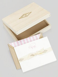 Charles Fradin Home - Letterpress Note Cards in Wood Box/Pig