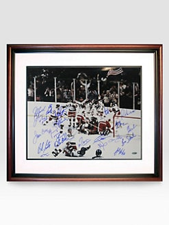 Steiner Sports - 1980 USA Hockey Multi-Signed 16 X 20 Framed Photograph