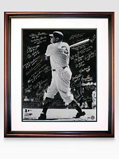 Steiner Sports - Babe Ruth Swing 20 X 24 Multi-Signed Framed Photo