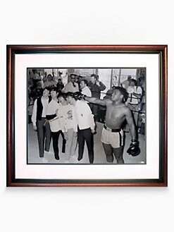 Steiner Sports - Muhammed Ali & Beatles Autographed 20 X 24 Framed Photograph
