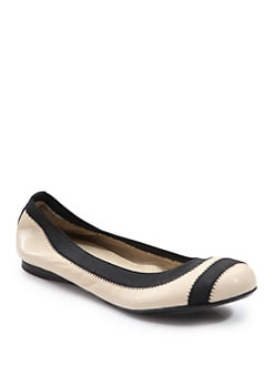 Stuart Weitzman - Giveable Nappa Leather Ballet Flats