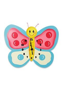 Teamson - Magic Garden Butterfly Wall Clock