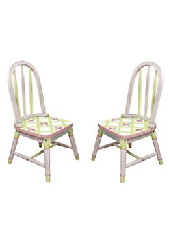 Teamson - Crackled Rose Table & Chairs/3-Piece Set