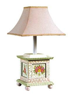 Teamson - Crackled Rose Table Lamp