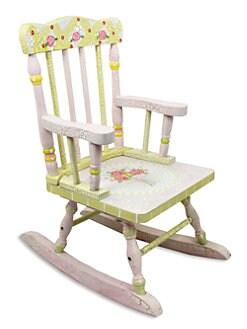 Teamson - Crackled Rose Small Rocking Chair