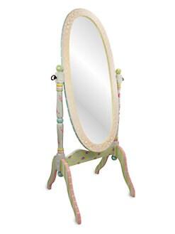 Teamson - Crackled Rose Standing Mirror