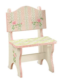 Teamson - Crackled Rose Time Out Chair