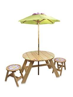 Teamson - Magic Garden Outdoor Table & Chairs/3-Piece Set